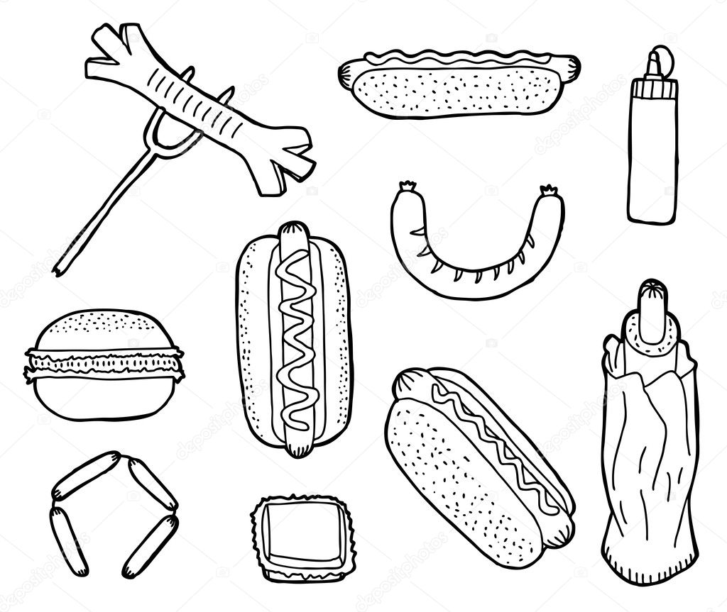 Hand drawn fast food collection — Stock Vector #10525707