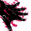Hand abstraction — Stock Vector