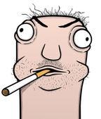 Smoker cartoon — Stock Vector