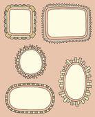 Hand drawn frames — Stock Vector