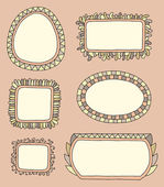 Hand drawn frames — Stock Vector