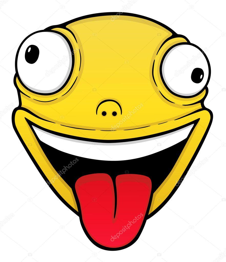 Orange crazy smile stock illustration