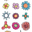 Royalty-Free Stock Vector Image: Colorful flowers