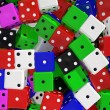 Colorful dices — Stock Photo