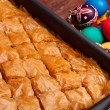 Baklava Tray And Easter Eggs — Foto Stock