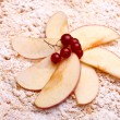 Decoration On Top Of Apple Cake — Stock Photo #10045802