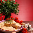 Easter Recipes: Italian Pizza Rustica - Stock Photo