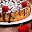 Cheesecake With Chocolate - Vertcal Layout — Stock Photo #10046124