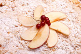 Decoration On Top Of Apple Cake — Stock Photo