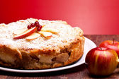 Closeup Of Apple Cake — Stock Photo