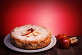 Cheescake With Sour Apples — Stock Photo