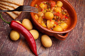 Country Stew With Vegetables And Pork Chops — Stock Photo