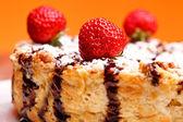 Cheesecake Extreme Closeup — Stock Photo
