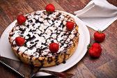 Cheesecake - Overhead Shot — Stock Photo