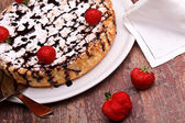 Cheesecake And Strawberries — Stock Photo