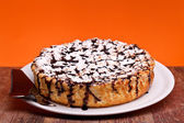 Cheesecake With Chocolate — Stock Photo