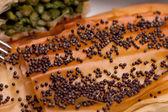 ケシの種子と地殻のクローズ アップ — ストック写真