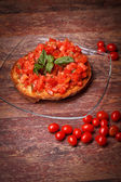 Frisella And Cherry Tomatoes — Stok fotoğraf