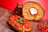 Giant Friselle - Italian Traditional Cuisine — Stock Photo