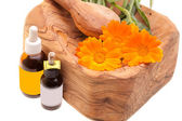Essential Oils From Calendula (Calendula Officinalis) — Stock Photo