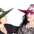 Young And Senior Women With Hat — Stock Photo #8280931