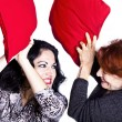 pillow fight&quot — Stock Photo