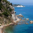 View Above Beach In Portoferraio, Elba Island - Zdjęcie stockowe