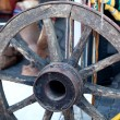 Stock Photo: Old Cart Wheel
