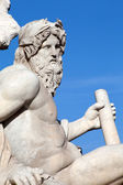 Zeus By Bernini - Four Rivers Fountain, Rome — Stock Photo