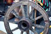 Old Cart Wheel — Stock Photo