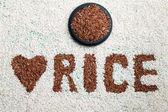 Reis-Etikett — Stockfoto