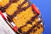 Carrot Cake Macro — Stock Photo