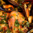 Mix Of Rice And Seafood - Paella - Stock Photo