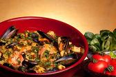 Spanish Recipes - Paella — Stock Photo