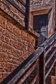Brickwork facade with steps — Stock Photo