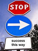 Traffic sign saying Success This Way — Stock Photo
