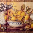 Stock Photo: Tile Still Life Of Lemons
