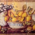 ������, ������: Tile Still Life Of Lemons