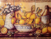 Tile Still Life Of Lemons — Stock Photo