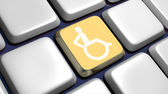 Keyboard (detail) with wheelchair key — Stock Photo