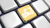 Keyboard (detail) with ambulance key — Stock Photo