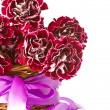 Stock Photo: Beautiful bouquet of carnations