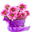 Chrysanthemums in basket — Stock Photo #10360522