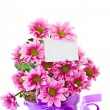 Chrysanthemums in the basket - Stock Photo