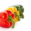 Red, green and yellow peppers — Stock Photo #10543727