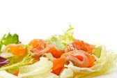 Salad with salted salmon — Stock Photo