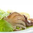Salad with boiled octopus — Stock Photo