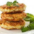 Stock Photo: Vegetable pancakes