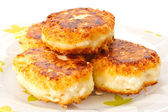Cottage cheese pancakes — Stock Photo