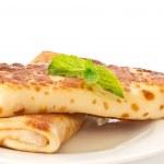 Pancakes stuffed with — Stock Photo